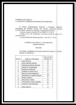 Decizia nr 11 locuri candidatura